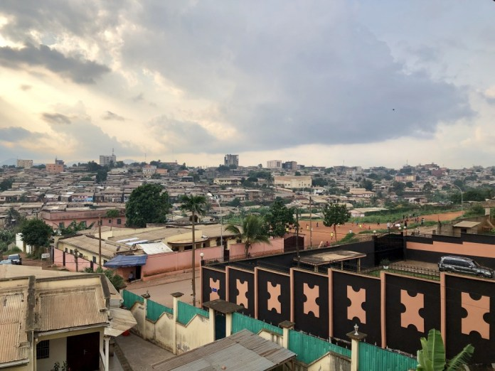 A spectacular rooftop view of Yaounde, the capital of Cameroon, taken by Markus Brooks during his eight week stay in the French and English speaking country. (Photo special to JSU)