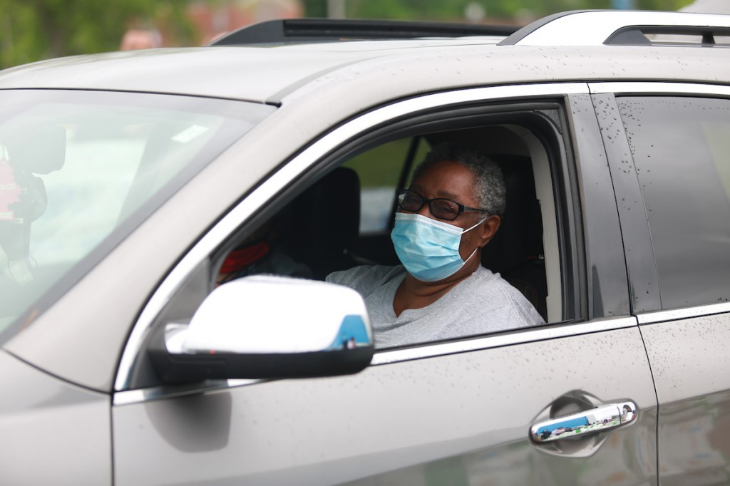 "Bettie Smith of Jackson said, ""I can now have food for my children and grandkids. I am grateful and thankful. The pandemic put a damper on everything because it was a long wait to get food stamps processed. The lines were long and unemployment is still high."" (Photo by William H. Kelly III/JSU)."
