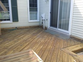 After Power Washing or Pressure Washing Deck and Sealing with Thompson Clear Sealer