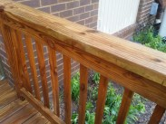 After Power Washing / Pressure Washing of a Treated Wood Deck and Thompson Clear Sealing in Montgomery Village Maryland