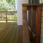 After Power Washing / Pressure Washing of a Treated Wood Deck and Thompson Clear Sealing in Gaithersburg Maryland
