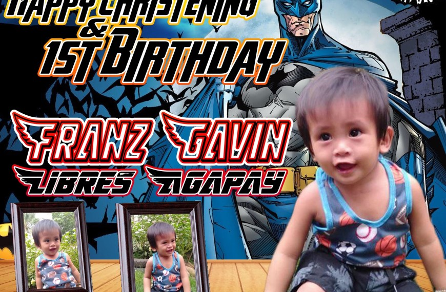 Batman Inspired Birthday Tarpaulin Design – Template |PSD File