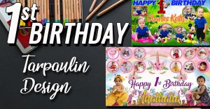 1st Birthday Tarpaulin design