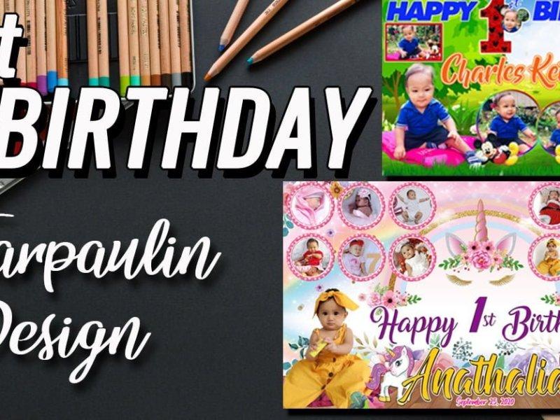 1st Birthday Tarpaulin design