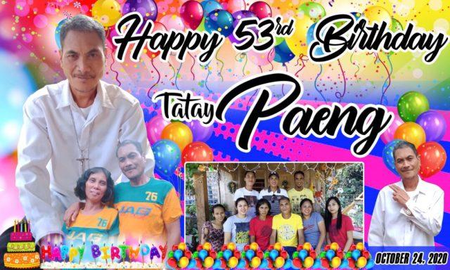53rd Birthday Tarpaulin Layout in Balloon Motif