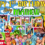 1st birthday tarpaulin design cocomelon theme