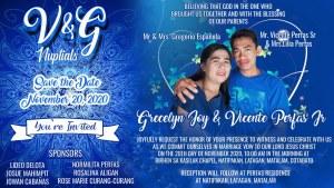 Wedding invitation Design Blue Motif