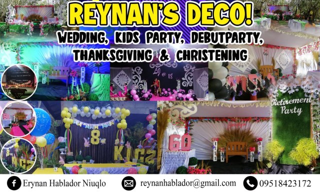 party decoration for birthday and other events tarpaulin design
