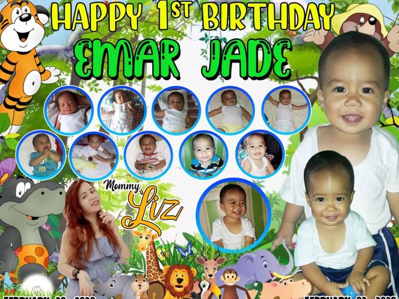 Jungle Safari 1st Birthday, Jungle Safari 1st Birthday Tarpaulin Design, JTarp Design