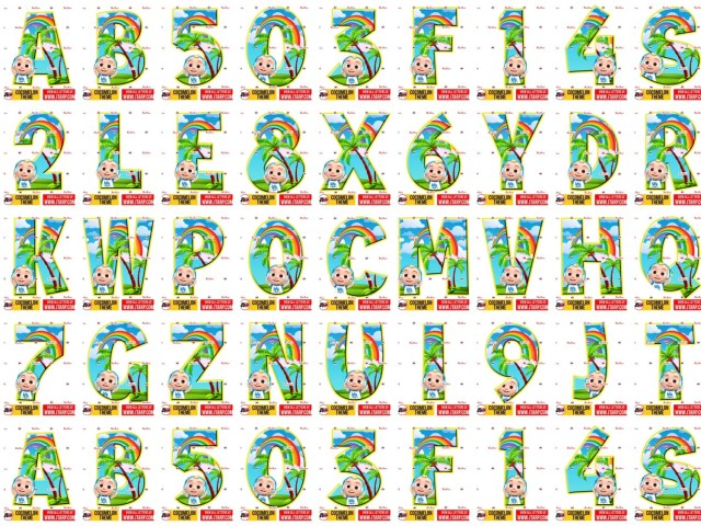 Letters a-z and number 0-9 cocomelon free printables_original