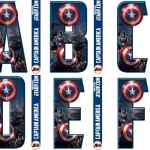 Avengers Captain America Letters and Numbers