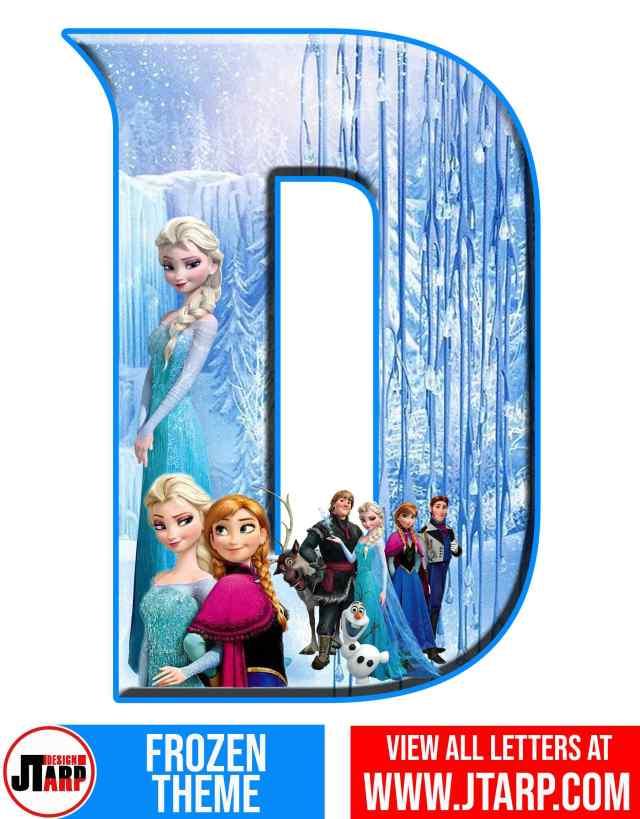 Letter D Frozen Alphabet Letters Printable Free