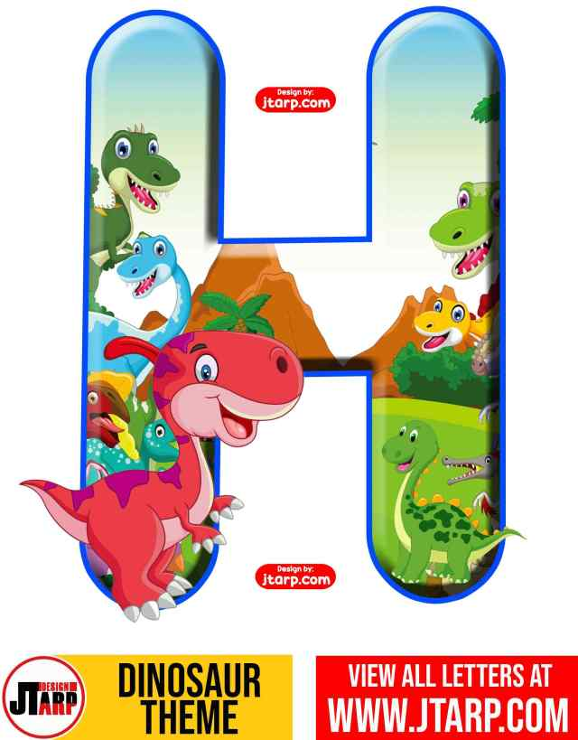 Letter H Free Printable Dinosaur Alphabet Letters