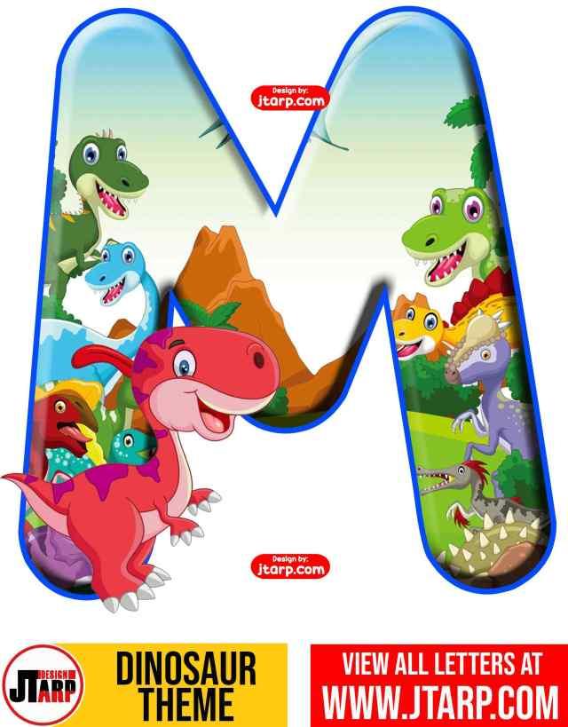 Letter M Free Printable Dinosaur Alphabet Letters