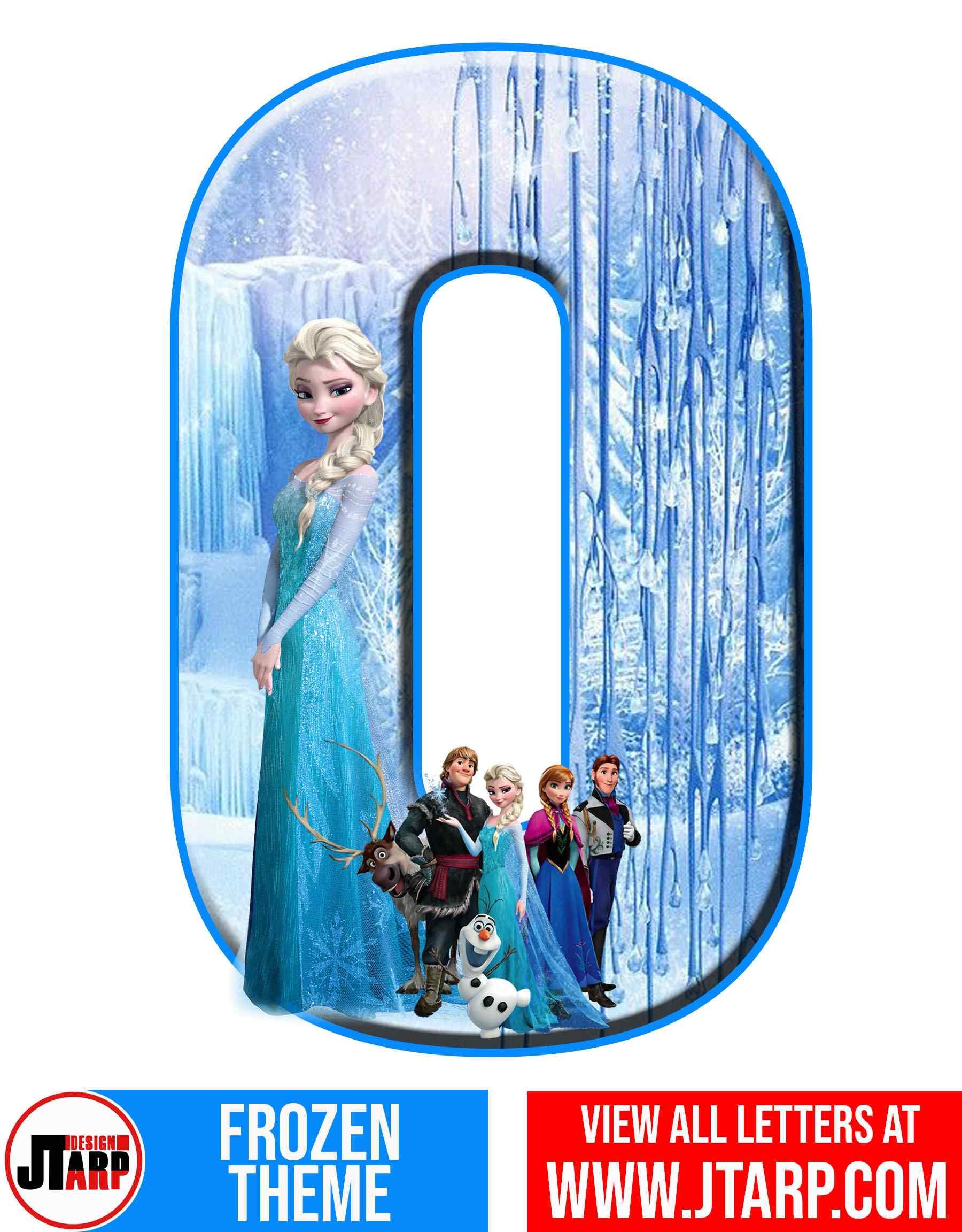 Letter O Frozen Alphabet Letters Printable Free