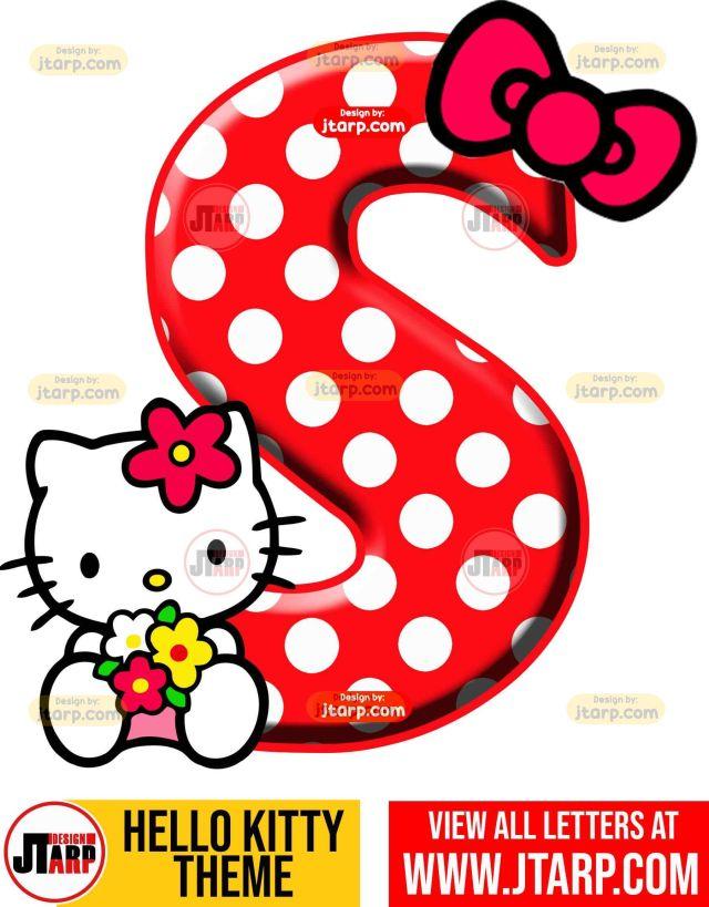 Letter S hello kitty printable letters design