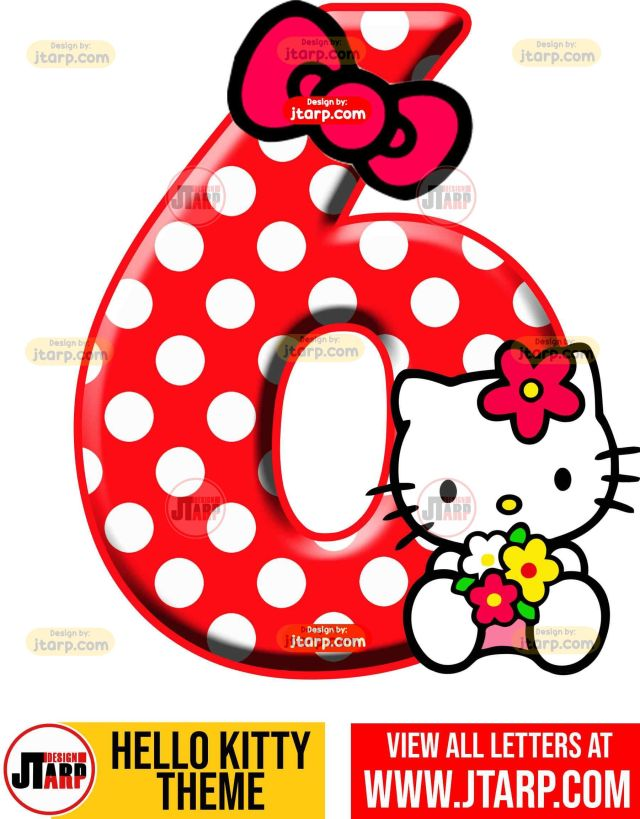 Number 6 hello kitty numbers 1 10 free download