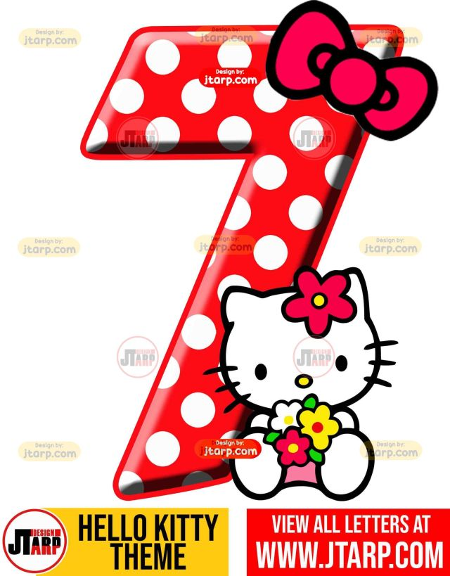 Number 7 hello kitty numbers 1 10 free download