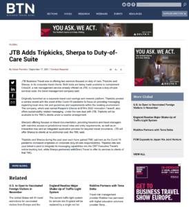 BTN News Article Sept 2021