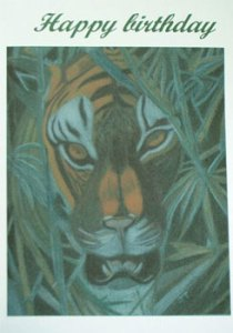 Tiger in Jungle - Artwork Card Front - Ref 202