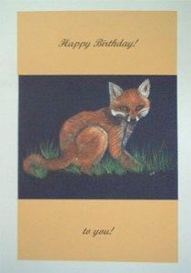 Fox Artwork Card - Ref 207