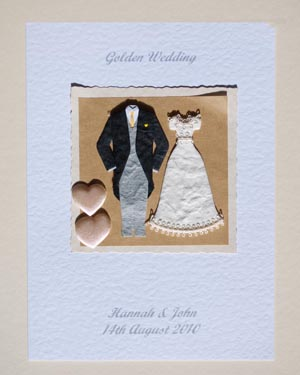 Golden Couple - Golden Wedding Anniversary Card Front (50 years) - Ref P102