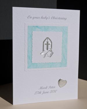 Boy's Christening Card Angle - Ref P135