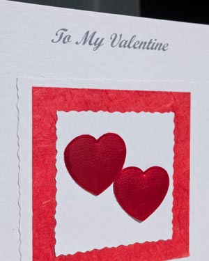 Valentines bouquet - Valentines Day Card Closeup - Ref P151
