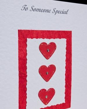 Valentine hearts - Valentines Day Card Closeup - Ref P153