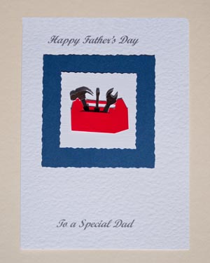 Toolbox Father's Day Card Front - Ref P158