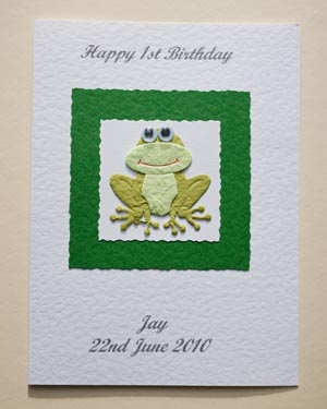 Frog - Boys Birthday Card Front - Ref P162