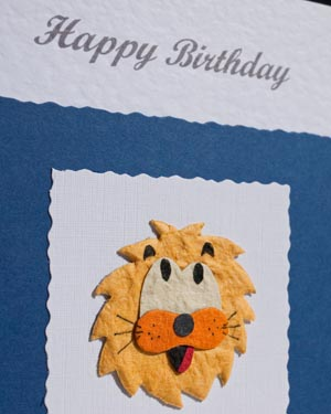 Lion - Boys Birthday Card Closeup - Ref P163