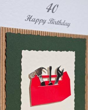 Tool box - Men's Birthday Card Closeup - Ref P166