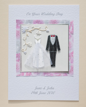Bride and Groom Wedding Card Front - Ref P168