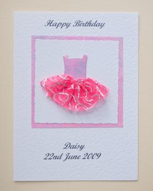 Ballet dress - Girls Birthday Card Front - Ref P173