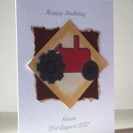 Little Red Tractor - Men's Birthday Card Angle - Ref P181