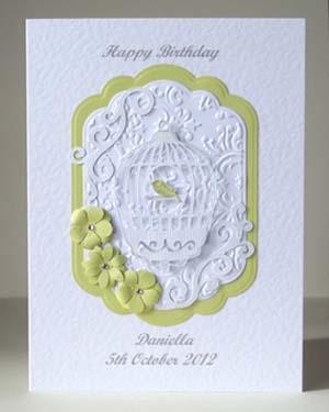 Bird Cage Women's Birthday Card Front – Ref P190