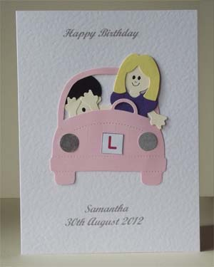 Learner Driver - Women's Birthday Card Front - Ref P207