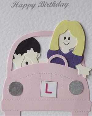 Learner Driver - Women's Birthday Card Closeup - Ref P207