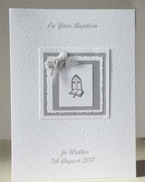 Baptism Christening Card Front - Ref P211