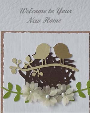 New Home Special Occasion Card Closeup- Ref P183