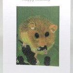 Dormouse on Blackberries Artwork Card - Ref A203