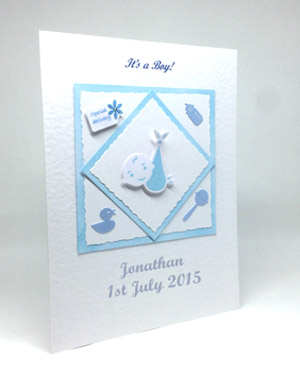 Special Delivery - New Baby Boy Card Angle - Ref P130