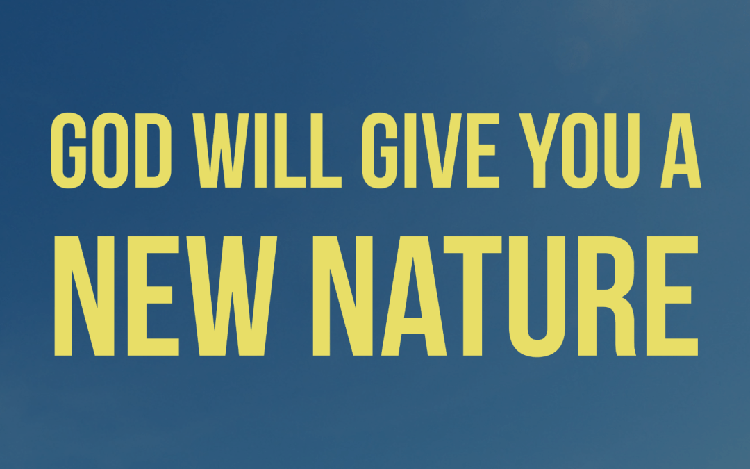 God will give you a NEW NATURE