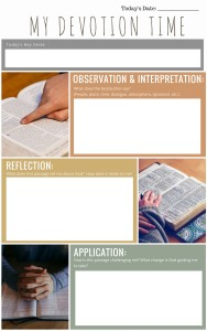 Free journal template for Devotion Time and Bible Study - jtdyer.com