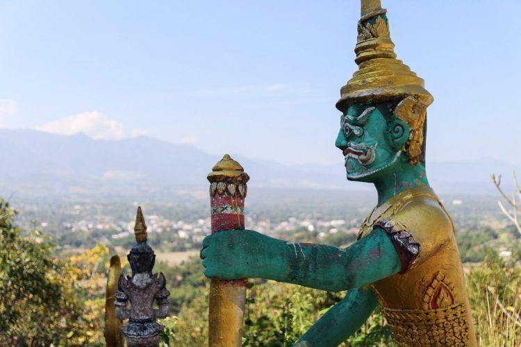 Vue sur Pai depuis le temple du Bouddha blanc