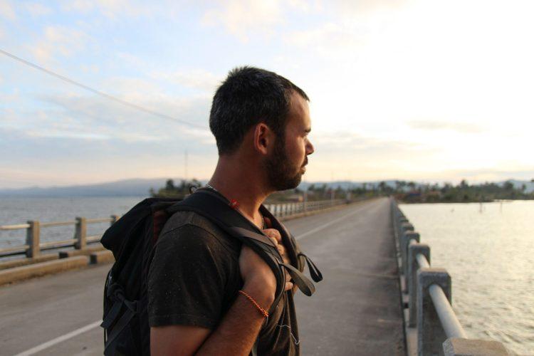 Coucher de soleil sur le lac du barrage Nam Theun 2