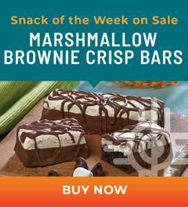 Snack of the Week on Sale: Marshmallow Brownie Crisp Bars