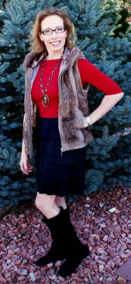 fur vest style discussion 50's 60's 70's