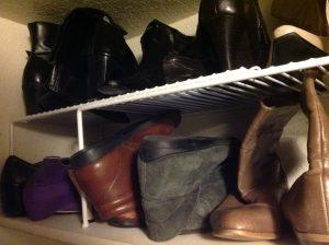 shoe organization and storage